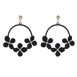Alloy Fashion Flowers earring  (Black-1)  Fashion Jewelry NHQD6220-Black-1's discount tags