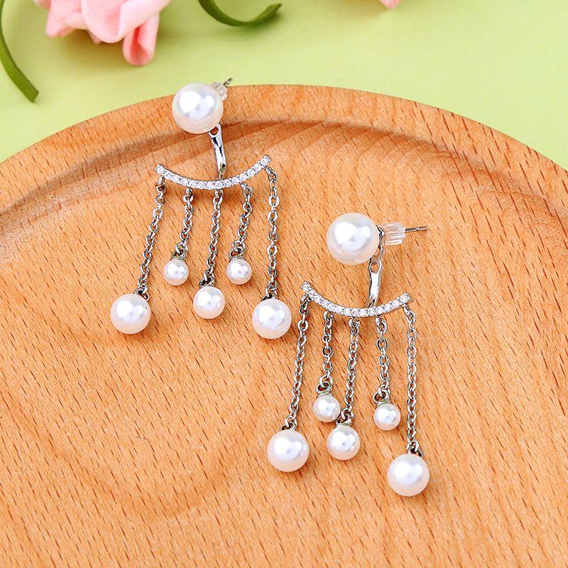 Copper Fashion Tassel earring  (Photo Color)  Fine Jewelry NHQD6232-Photo-Color