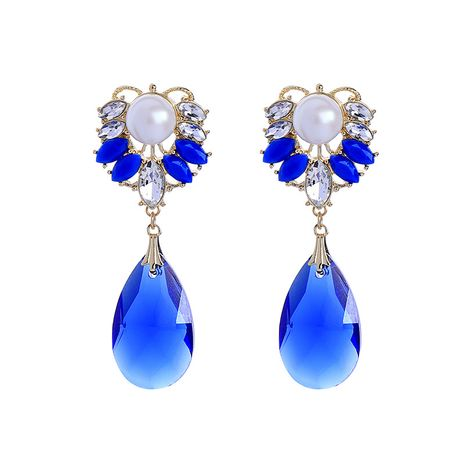Alloy Fashion Geometric earring  (Blue-1)  Fashion Jewelry NHQD6244-Blue-1's discount tags