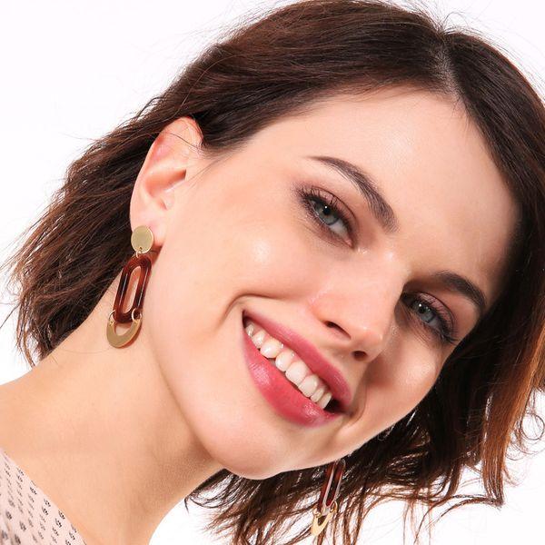Alloy Fashion Geometric earring  (Photo Color)  Fashion Jewelry NHQD6248-Photo-Color