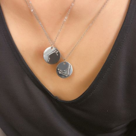 Alloy Simple Geometric necklace  (Aries, alloy, 2310)  Fashion Jewelry NHXR2739-Aries-alloy-2310's discount tags