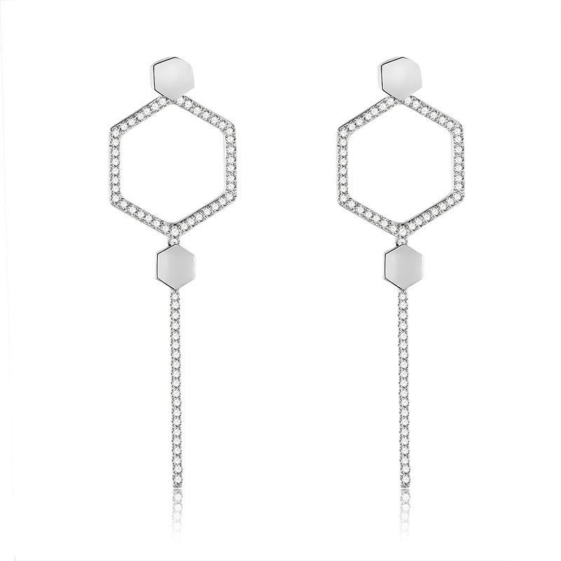 Copper Fashion Tassel earring  (61189683)  Fine Jewelry NHXS2353-61189683