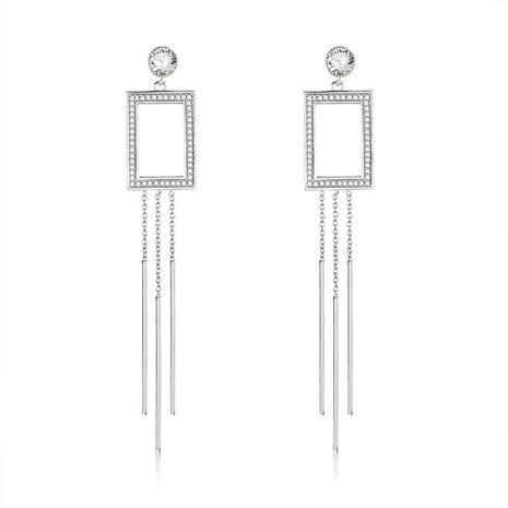 Copper Simple Tassel earring  (61189592)  Fine Jewelry NHXS2356-61189592's discount tags