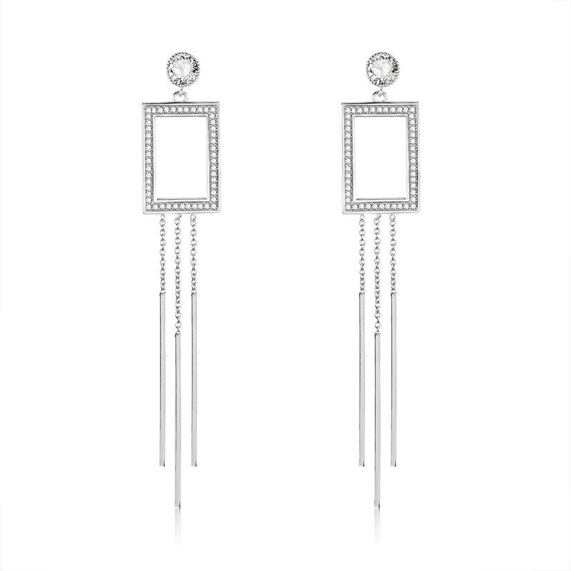 Copper Simple Tassel earring  (61189592)  Fine Jewelry NHXS2356-61189592