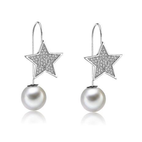 Copper Fashion Geometric earring  (61189599)  Fine Jewelry NHXS2364-61189599's discount tags