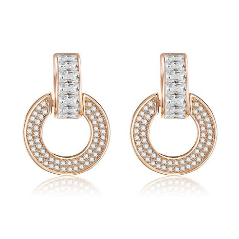 Copper Simple Geometric earring  (61189587A)  Fine Jewelry NHXS2365-61189587A's discount tags