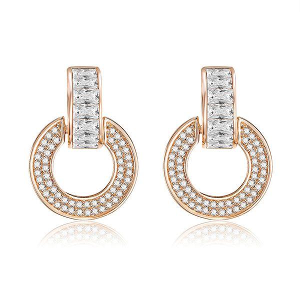 Copper Simple Geometric earring  (61189587A)  Fine Jewelry NHXS2365-61189587A
