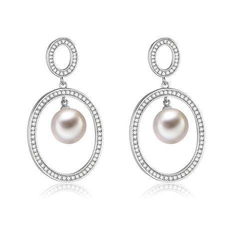 Copper Fashion Geometric earring  (61189589)  Fine Jewelry NHXS2367-61189589's discount tags