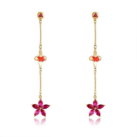 Copper Fashion Flowers earring  (61189574)  Fine Jewelry NHXS2369-61189574's discount tags