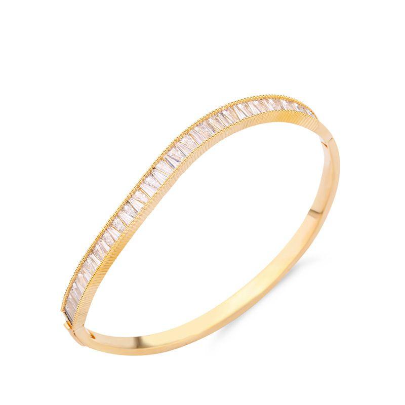 Copper Korea Geometric bracelet  Alloy  Fine Jewelry NHAS0647Alloy