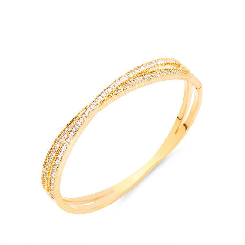 Copper Fashion Geometric bracelet  Alloy  Fine Jewelry NHAS0651Alloy