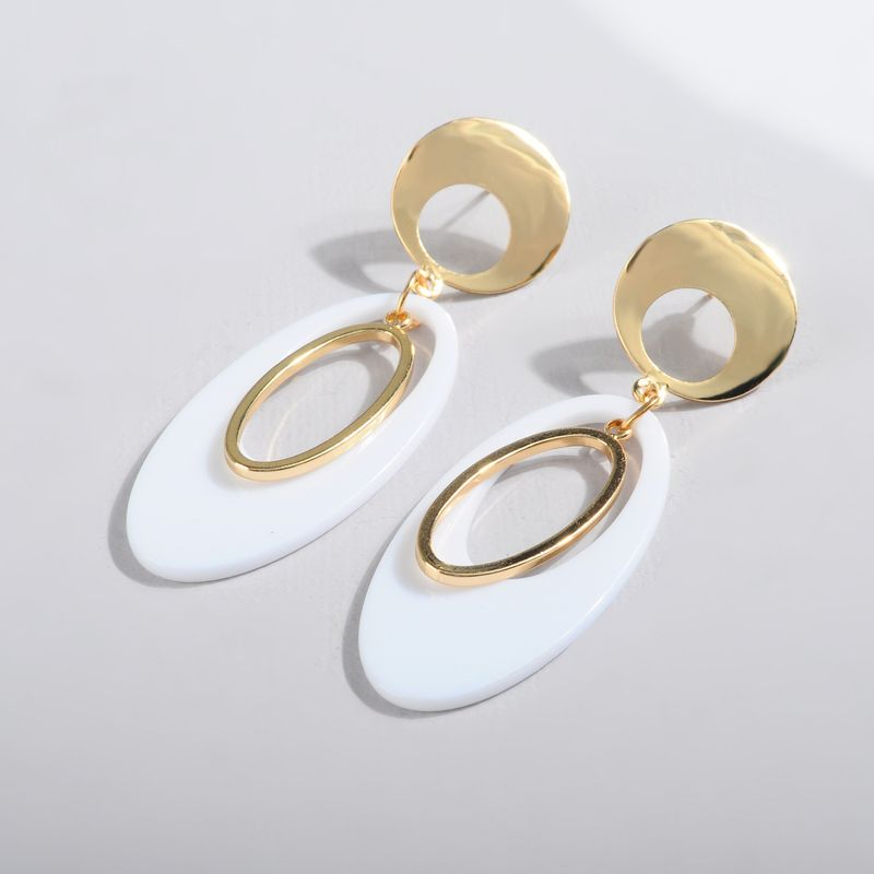 Acrylic Vintage Geometric earring  white  Fashion Jewelry NHLL0347white