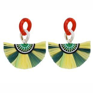 Alloy Vintage Tassel earring  (green)  Fashion Jewelry NHLL0374-green's discount tags