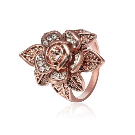 Copper Fashion Flowers Ring  (Rose Alloy-61165115A-16mm)  Fine Jewelry NHLP1422-Rose-Alloy-61165115A-16mm's discount tags
