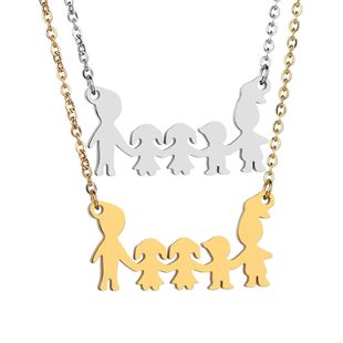 Titanium&Stainless Steel Fashion Cartoon necklace  (Steel color)  Fine Jewelry NHHF1333-Steel-color's discount tags