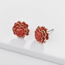Alloy Fashion Flowers earring  white  Fashion Jewelry NHLU0606white