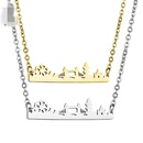 TitaniumStainless Steel Simple Geometric necklace  Steel color  Fine Jewelry NHHF1332Steelcolor