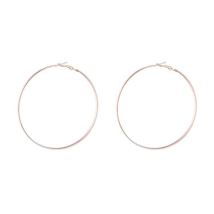 Korean version of the stylish exaggerated trendy circle earrings B imitation champagne alloy NHNPS6085