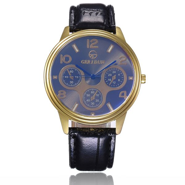 Alloy Fashion  Men watch  (Black belt blue)  Fashion Watches NHSY1877-Black-belt-blue