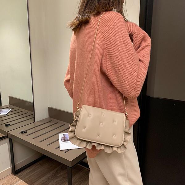 PU Korea  Shoulder bag  (Khaki)  Fashion Bags NHLD1152-Khaki