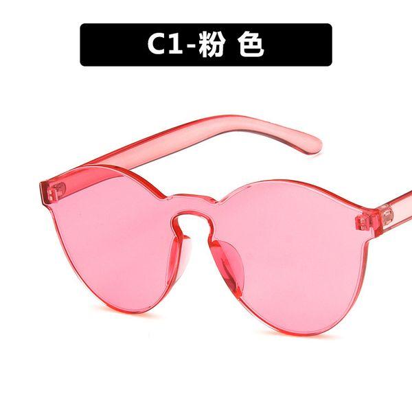 Plastic Vintage  glasses  (C1-powder)  Fashion Accessories NHKD0663-C1-powder