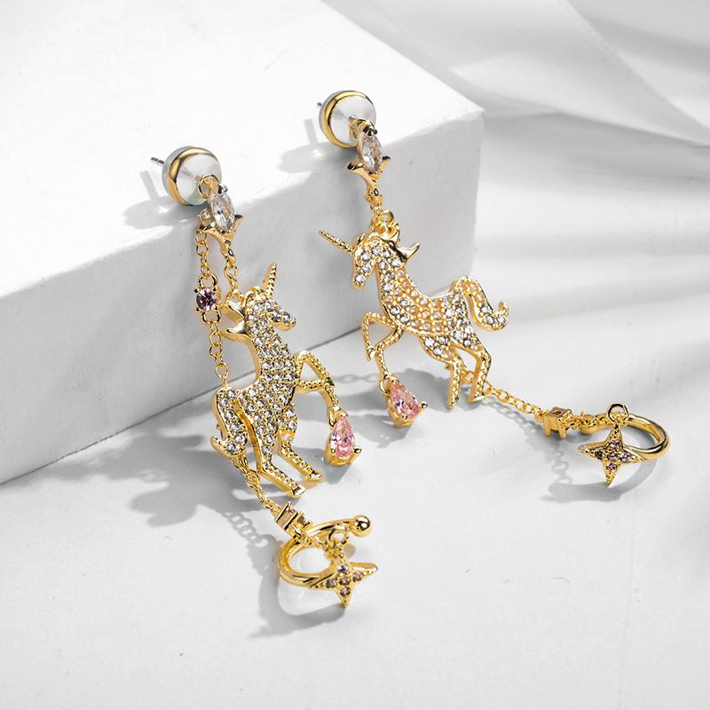 Copper Korea Animal earring  (Photo Color)  Fine Jewelry NHLJ4261-Photo-Color