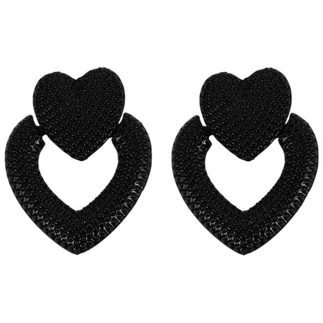 Alloy Fashion Sweetheart earring  (black)  Fashion Jewelry NHJQ11316-black's discount tags