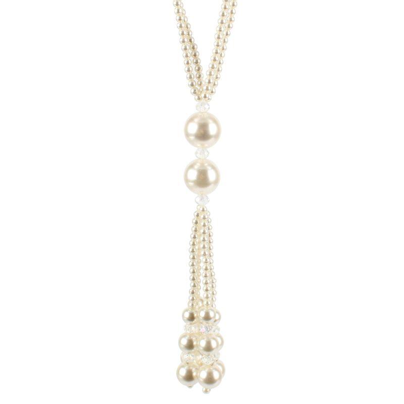 Imitated crystalCZ Fashion Geometric necklace  white  Fashion Jewelry NHCT0453white