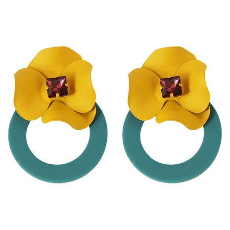 Alloy Fashion Flowers earring  (green)  Fashion Jewelry NHJQ11329-green's discount tags