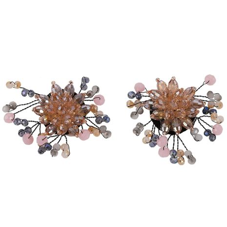Imitated crystal&CZ Korea Flowers earring  (Style one)  Fashion Jewelry NHJQ11336-Style-one's discount tags