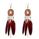 Alloy Bohemia Tassel earring  white  Fashion Jewelry NHGY2955white