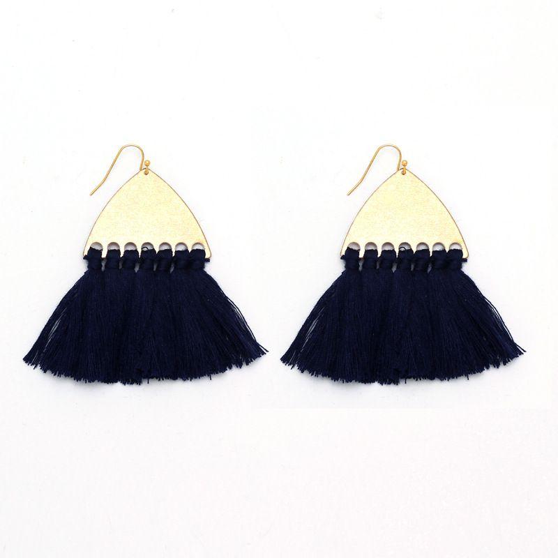 Alloy Fashion Tassel earring  (Dark blue)  Fashion Jewelry NHNZ1232-Dark-blue