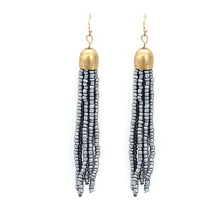 Alloy Fashion Tassel earring  (gray)  Fashion Jewelry NHNZ1237-gray's discount tags
