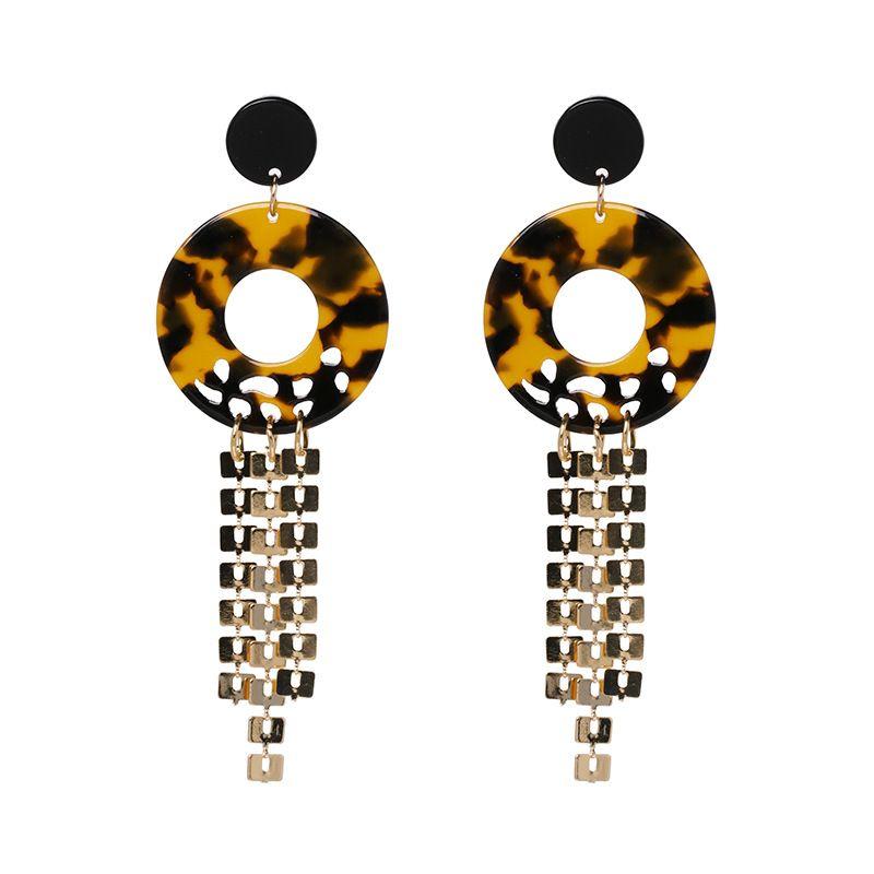 Acrylic Fashion Tassel earring  brown  Fashion Jewelry NHJJ5539brown