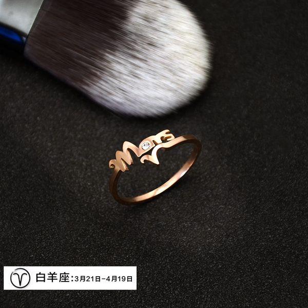 Alloy Korea  Ring  (Aries)  Fashion Jewelry NHOK0503-Aries