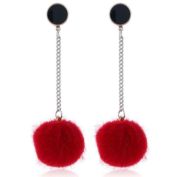 Alloy Korea  earring  (Big red white K)  Fashion Jewelry NHKQ2316-Big-red-white-K