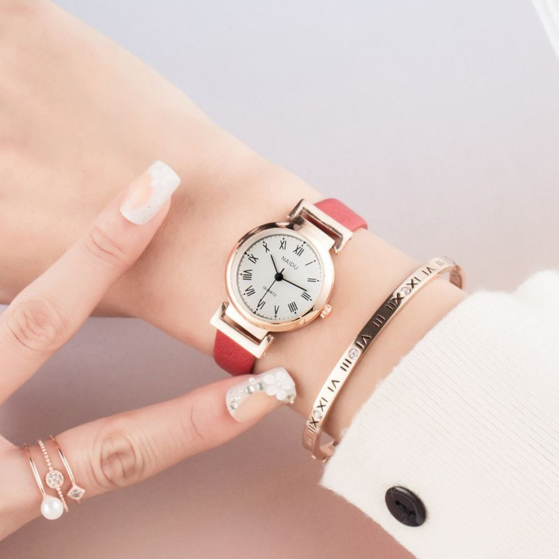 Alloy Fashion  Ladies watch  (red)  Fashion Watches NHSY1856-red
