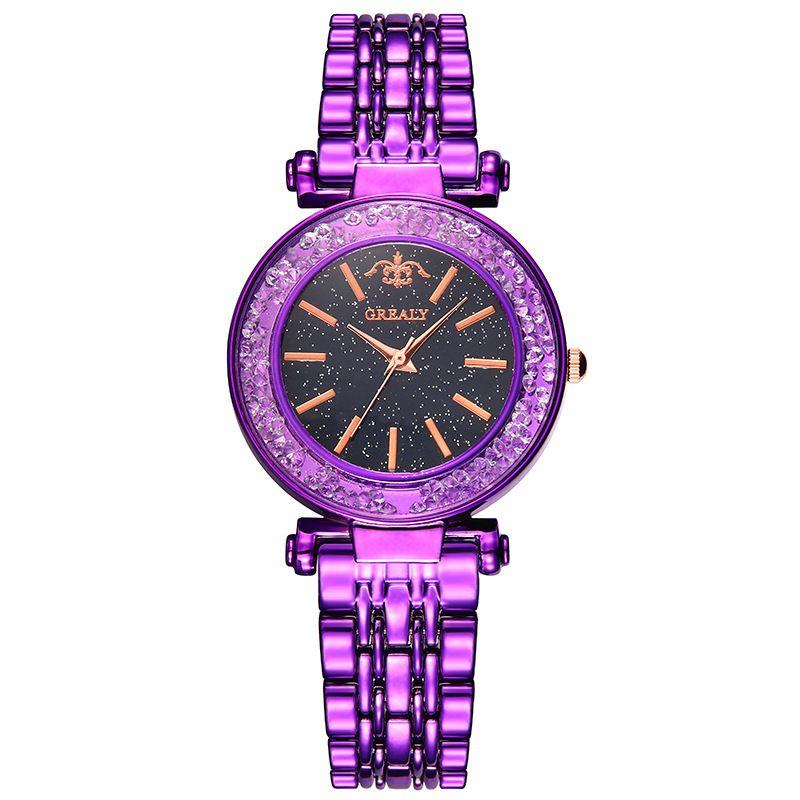 Alloy Fashion  Ladies watch  (purple)  Fashion Watches NHSY1865-purple