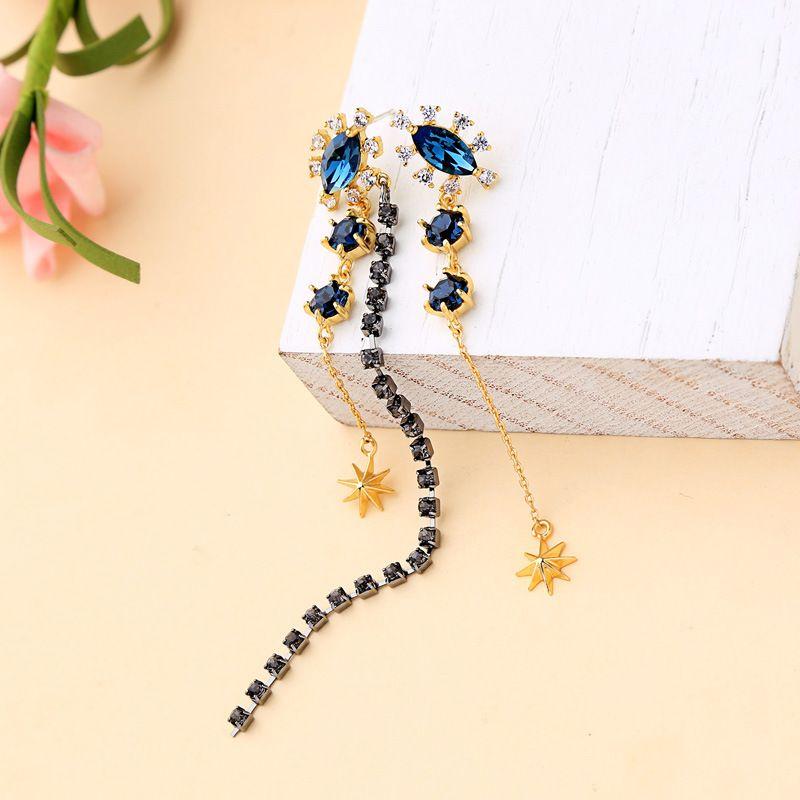 Copper Korea Tassel earring  (Photo Color)  Fine Jewelry NHQD6140-Photo-Color