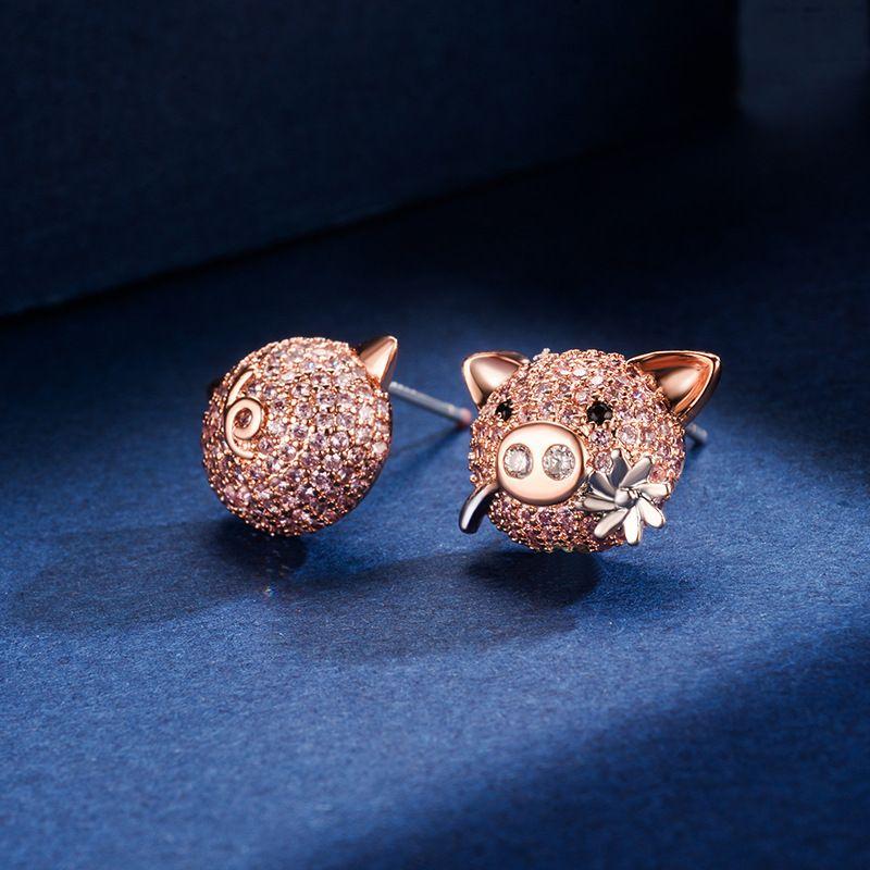Copper Korea Animal earring  (Photo Color)  Fine Jewelry NHLJ4255-Photo-Color