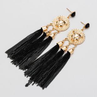 Alloy Fashion Tassel earring  (black)  Fashion Jewelry NHJE2546-black's discount tags