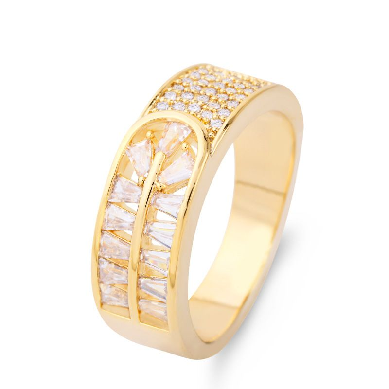Copper Simple  Ring  Alloy7  Fine Jewelry NHAS0018Alloy7
