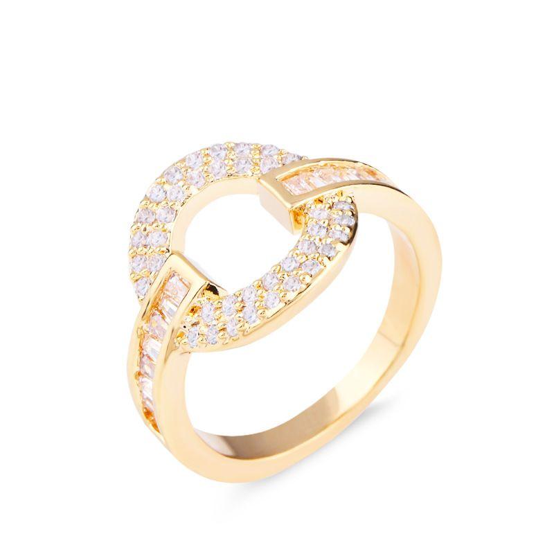 Copper Fashion Geometric Ring  Alloy7  Fine Jewelry NHAS0024Alloy7