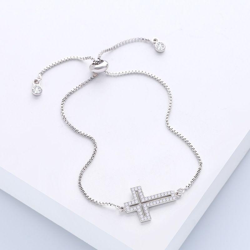 Copper Simple Geometric bracelet  Alloy  Fine Jewelry NHAS0081Alloy