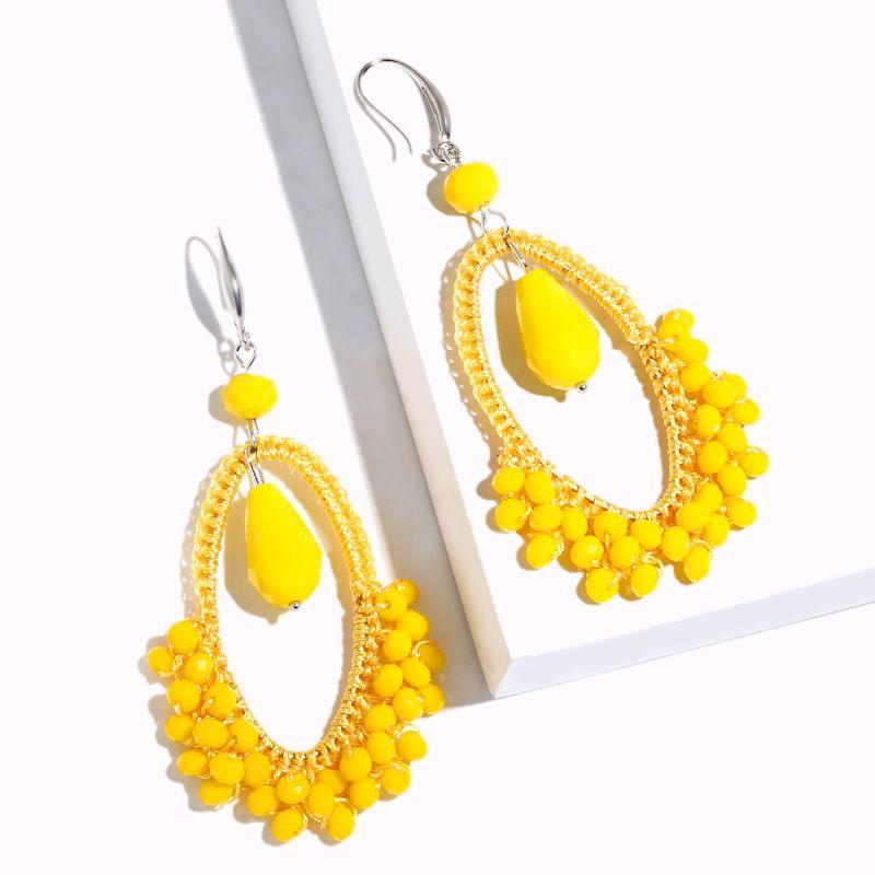 Alloy Fashion bolso cesta earring  (yellow)  Fashion Jewelry NHAS0085-yellow