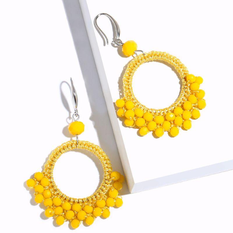 Alloy Fashion bolso cesta earring  yellow  Fashion Jewelry NHAS0141yellow