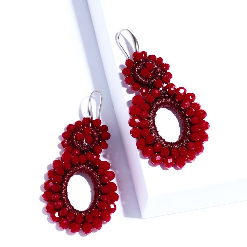 Alloy Fashion Geometric earring  (red)  Fashion Jewelry NHAS0151-red
