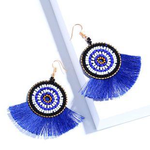 Alloy Fashion Tassel earring  (blue)  Fashion Jewelry NHAS0153-blue's discount tags
