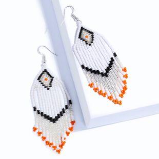 Alloy Fashion Tassel earring  (white)  Fashion Jewelry NHAS0154-white's discount tags