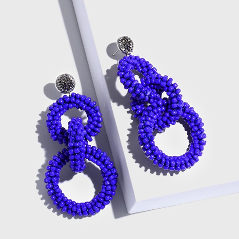 Alloy Fashion Geometric earring  (blue)  Fashion Jewelry NHAS0197-blue's discount tags